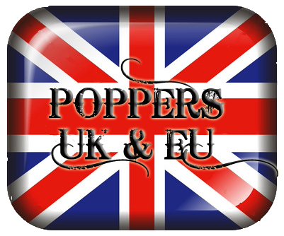 uk flag button Blue Boy Poppers Review